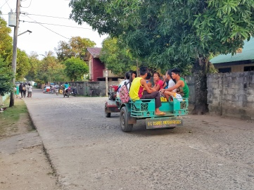 One of the few modes of transportation in Calayan Island