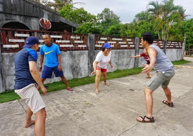 Because we were stranded in the island for four days, we have always found ways to keep us entertained. One of those things was playing street game favorite, patintero!