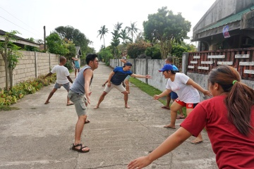 Everybody's really up to the challenge while playing. Haha. I think our team won back then!