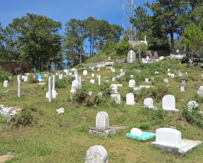 The road to hanging coffins is actually home to Sagada's public cemetery.