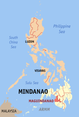 Map of Maguindanao