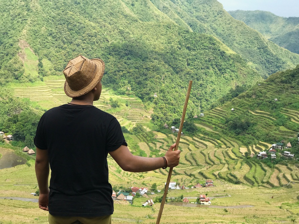 Jam as he was marveling at the beauty of Batad Rice Terraces.