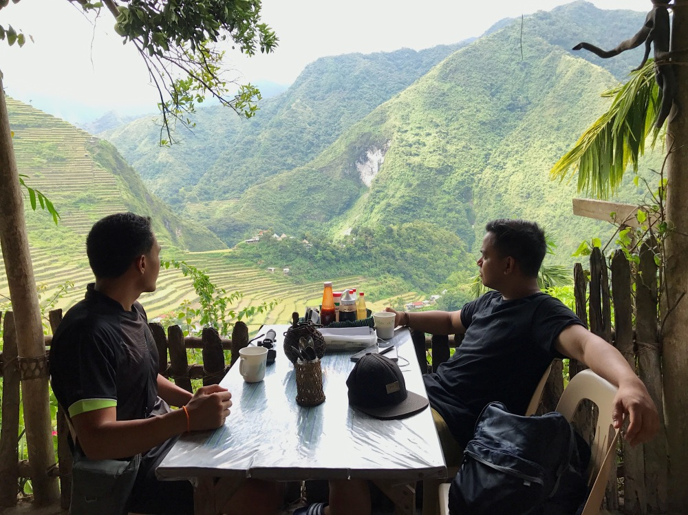 This is the view that you get to see while eating in Ramon's Native Homestay!