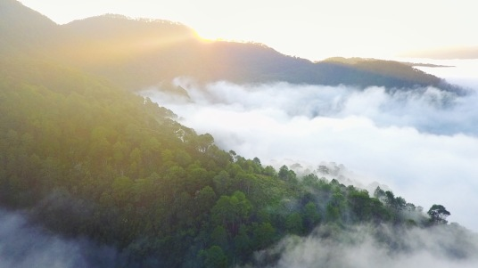 The magnificent sunrise in Maligcong as caught by the drone of my friend, Jam.