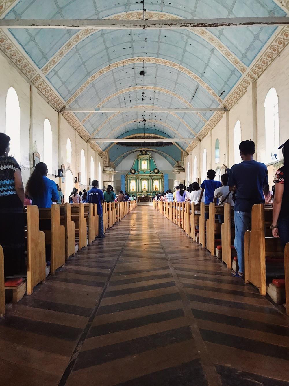 Inside the Lazi Church