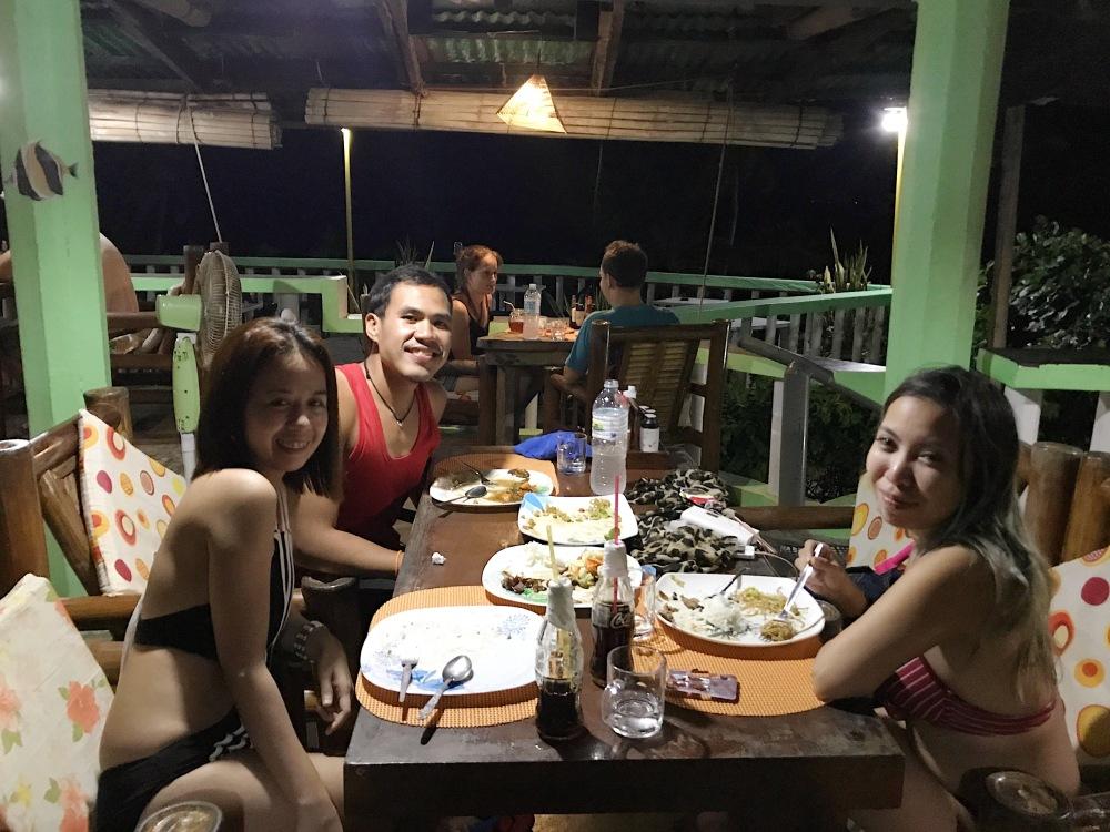 Dinner in Apo Island!