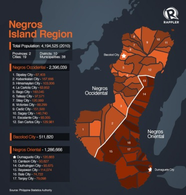 The Map of Negros Island (courtesy of rappler.com)
