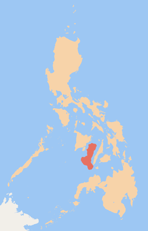 Philippine Map with Negros Island highlighted (courtesy of Wikipedia)