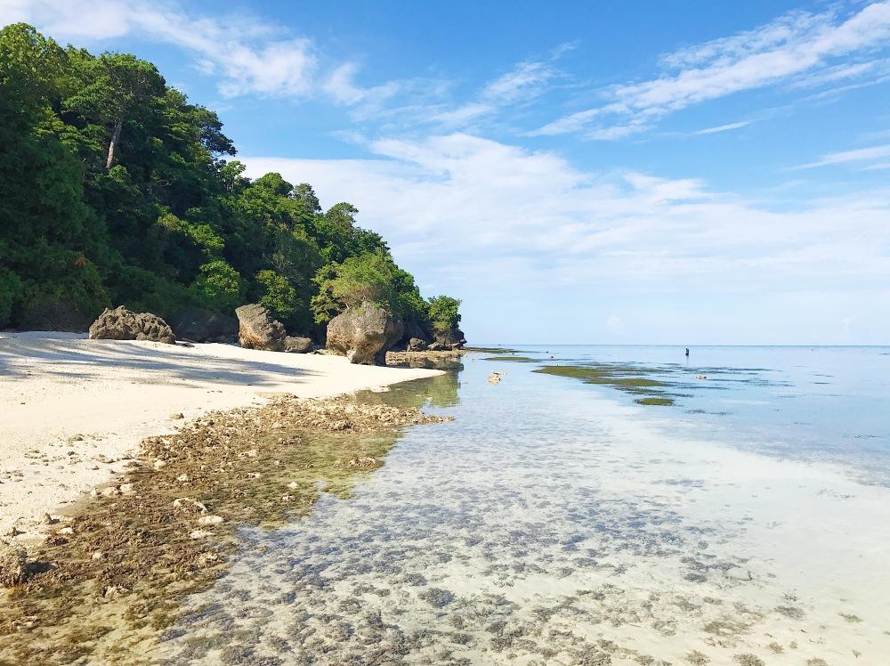 Kagusuan Beach at low tide.
