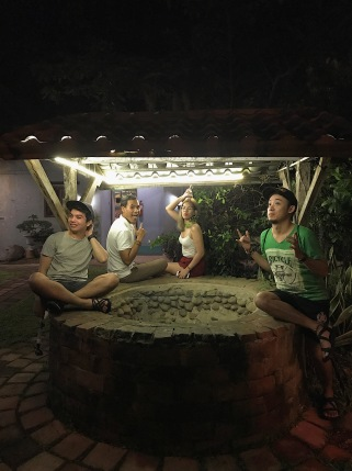 Here I am with my newfound friends who happened to be visiting also in Negros Occidental! They are Kint, Mhel and Franz!