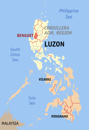 Location of Benguet.