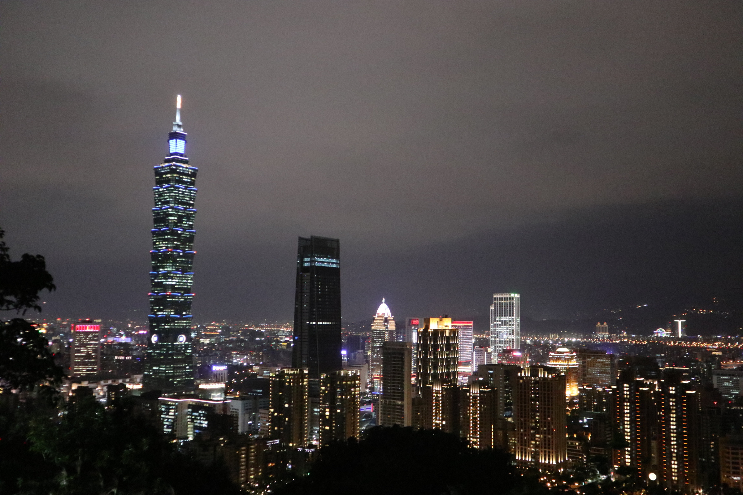 Taipei skyline at night!