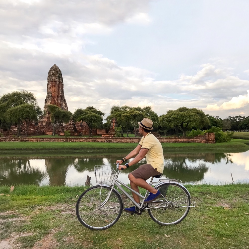 RENT A BIKE! Going around Ayutthaya is much easier when you're riding a bike. Instead of walking, rent one in a local bike shop for a cheap price!
