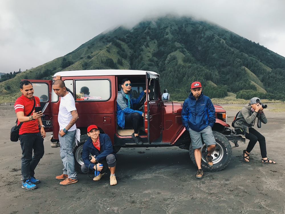 The Shembot Squad in Mt. Bromo