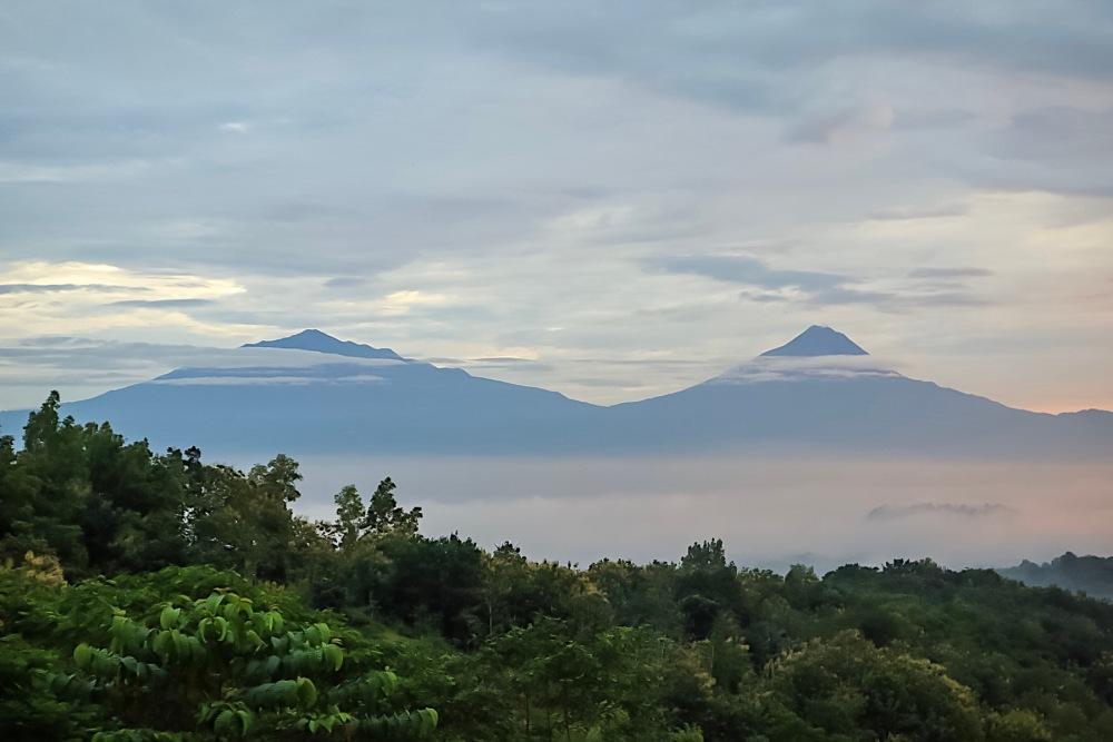 Mt. Merbabu and Mt. Merapi