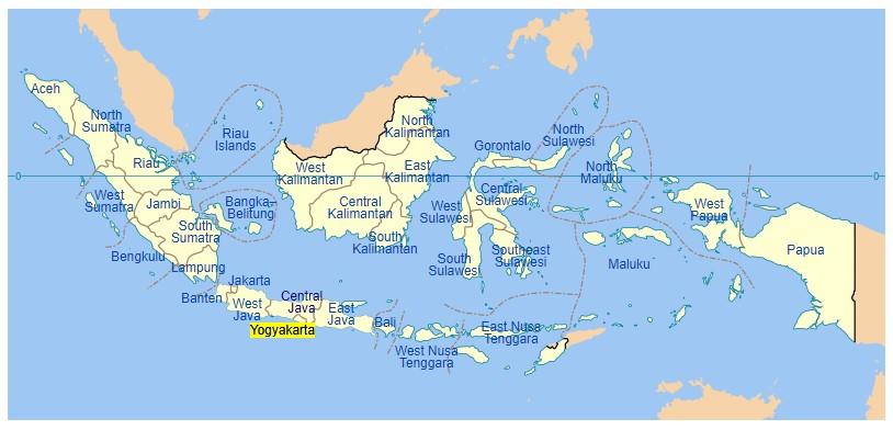 Yogyakarta Map (Wikipedia)