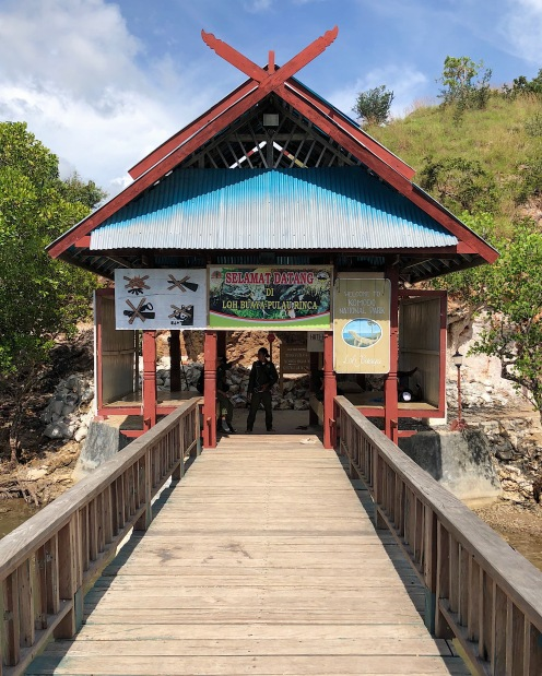 ENTRANCE TO THE KOMODO NATIONAL PARK. This is where the adventure to Rinca Island begins!