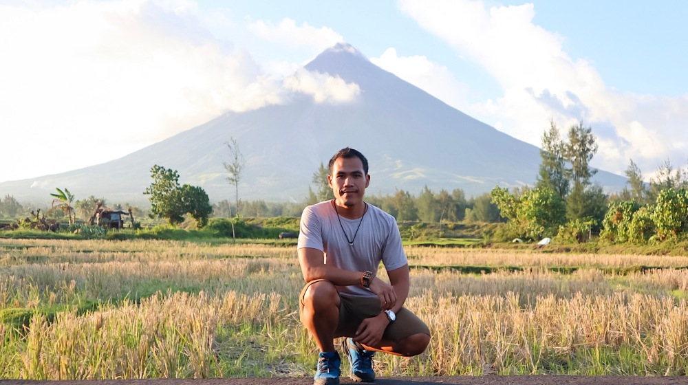 WITH MOUNT MAYON.