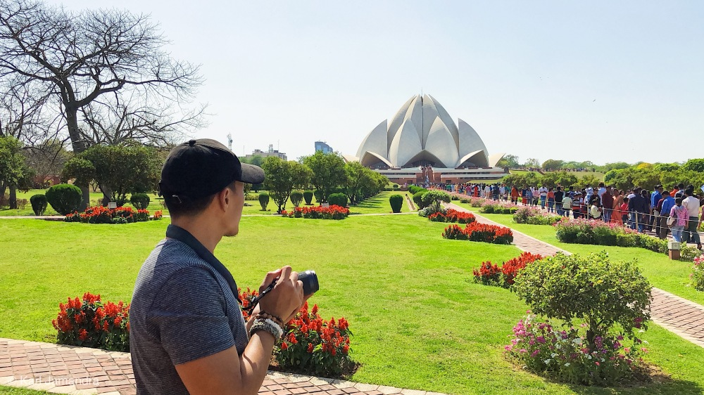 THE LOTUS TEMPLE.