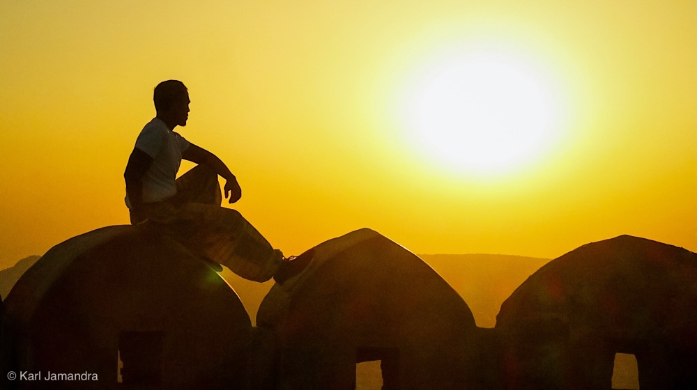 The beautiful sunrise in Jaipur!