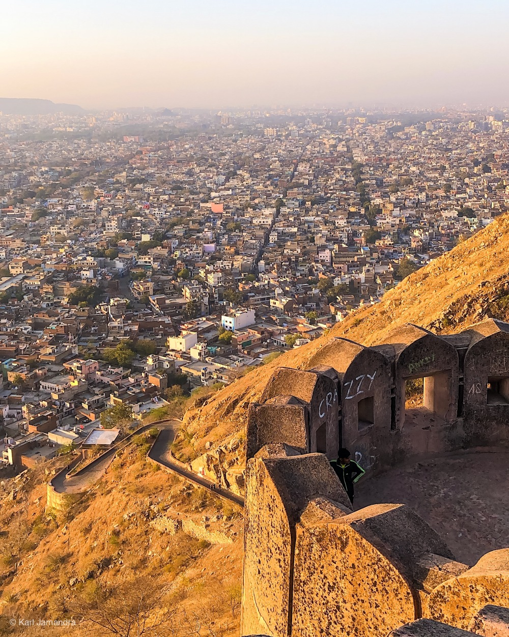 OVERLOOKING THE CITY OF JAIPUR