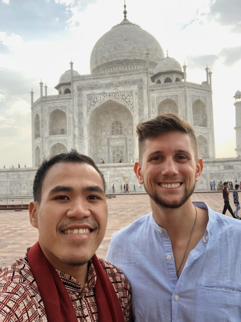 LOST IN TAJ MAHAL. Look who I saw in Taj Mahal! It's none other than Christian LeBlanc, a popular traveler-influencer in Instagram.