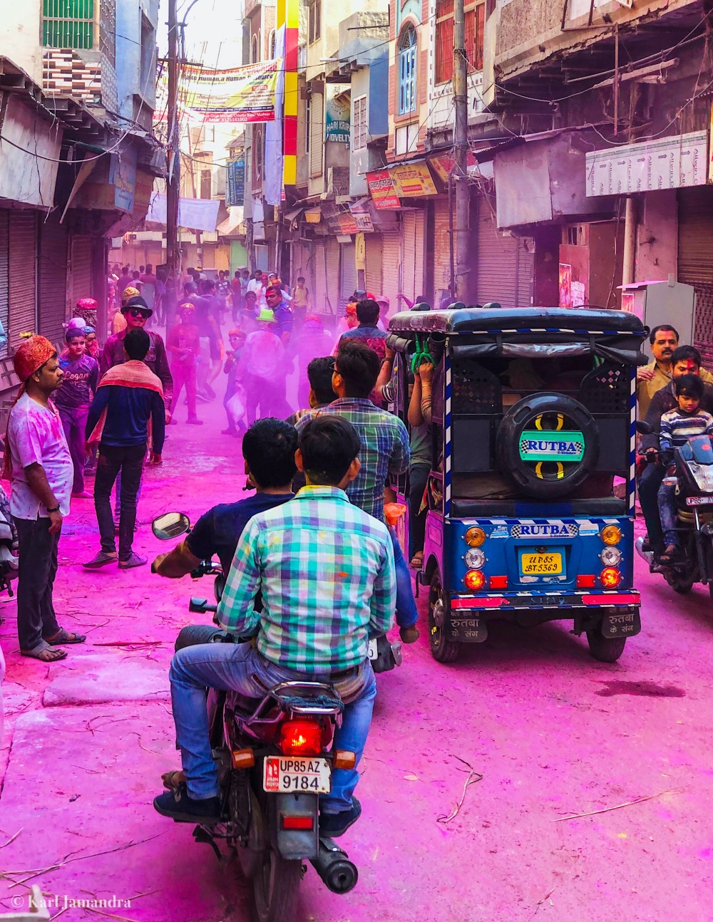 THE STREETS OF MATHURA.
