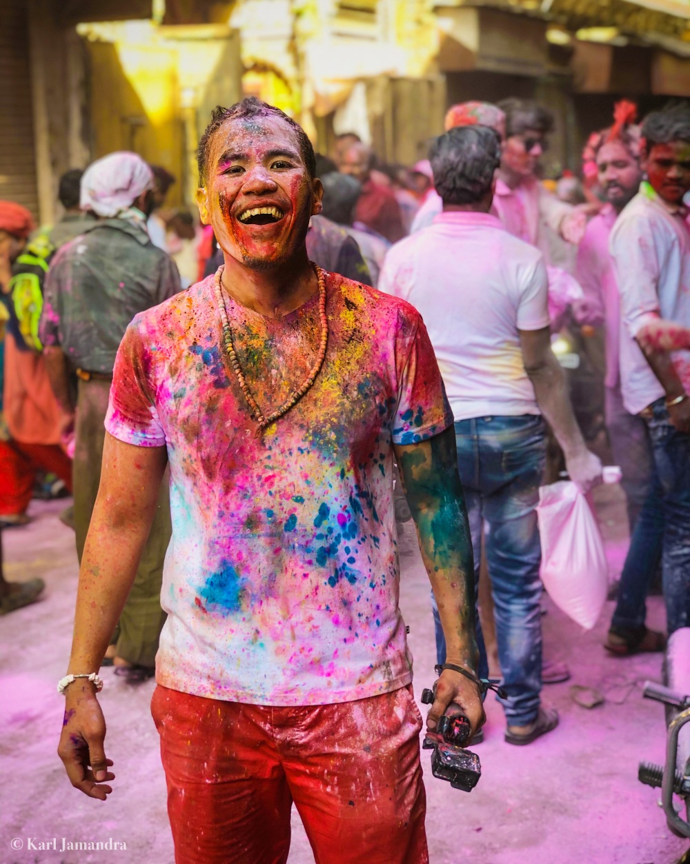 DRENCHED IN COLORS.