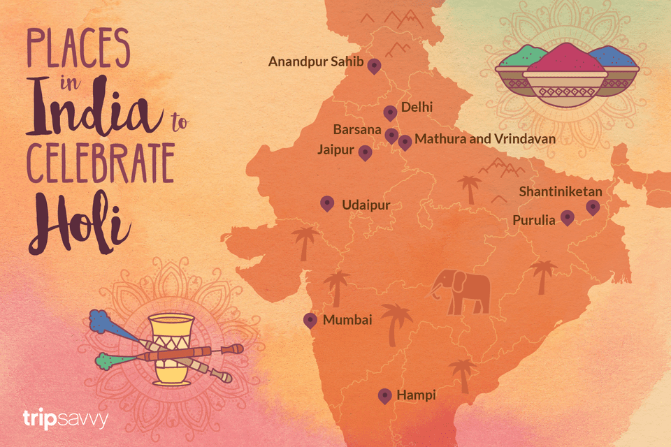 Places to celebrate HOLI