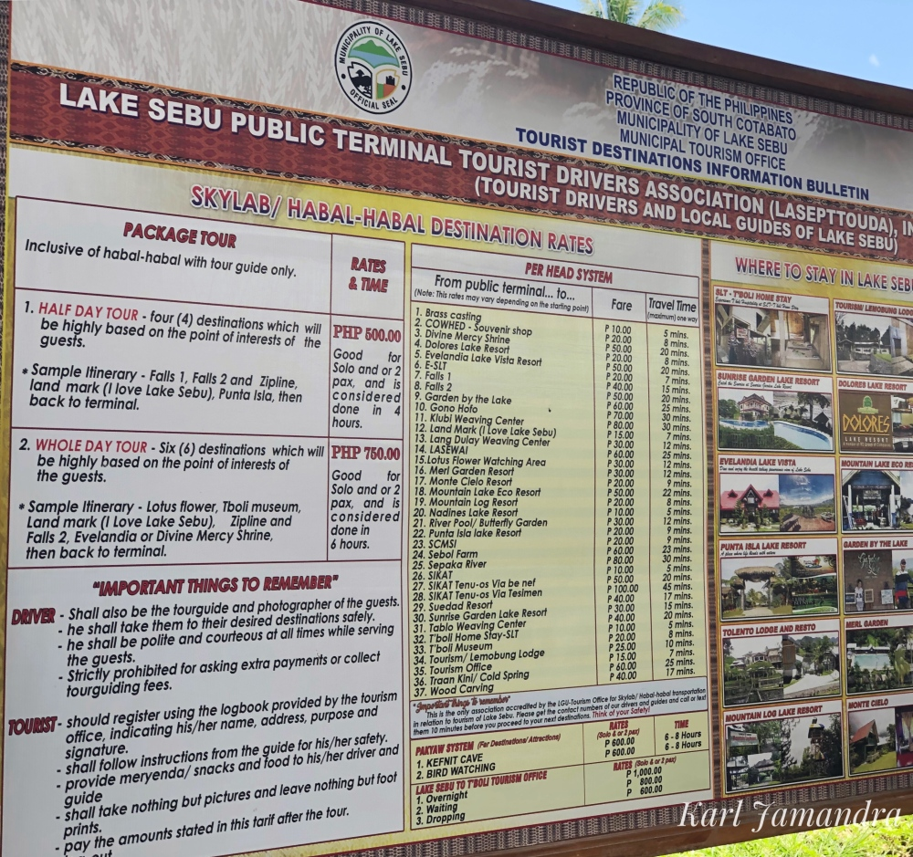 LAKE SEBU TOUR PRICES