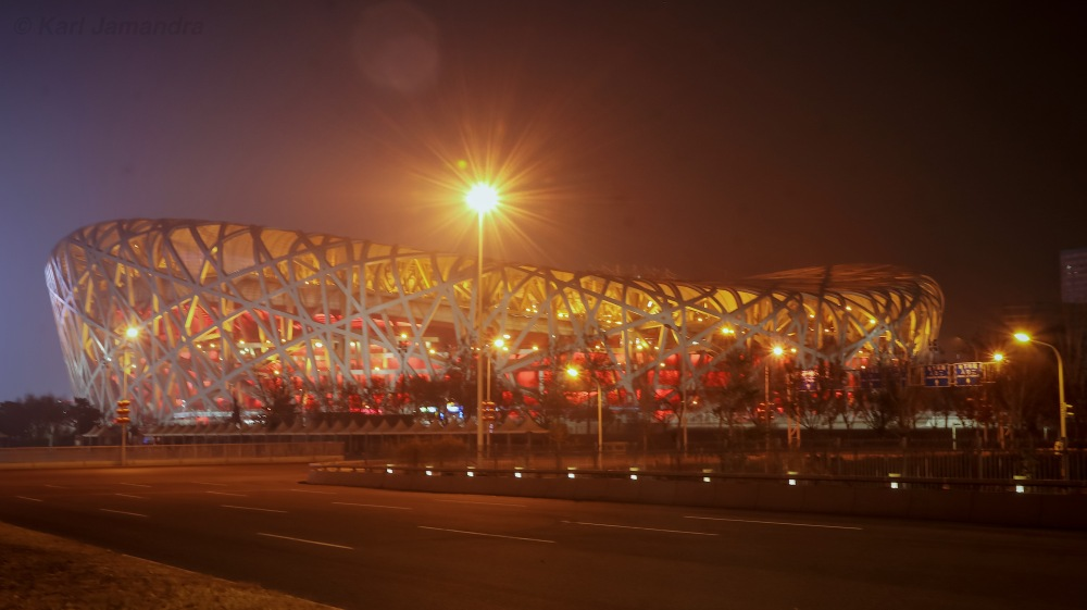 THE BIRD'S NEST AT NIGHT