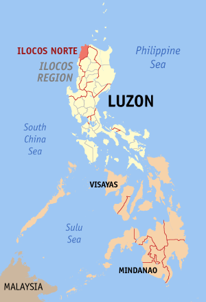 Map of Ilocos Norte